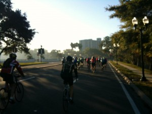 New Years Day ride: Turning On Orange Ave