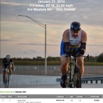 Finishing the Airport Time Trial, 3rd in Masters 50+